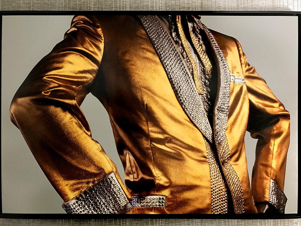 Gold lamé jacket